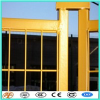 1.88mx2.9m RAL2011PVC Coated Yellow Temporary Fence