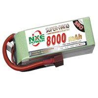 8000mAh 22.2V 6S 25C Lipo battery for RC Helicopter