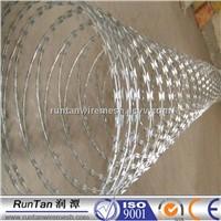 galvanized concertina razor wire, razor wire fencing, razor barbed wire