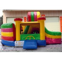 CE Inflatable colorful bouncer with slide(IB-019)
