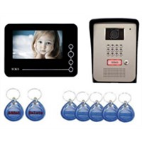 video door phone with ID card and password unlock
