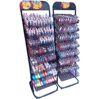 HYX-A026B wire display stands nail polish rack, nail polish floor standing rack display