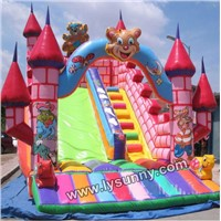 PVC Material Inflatable Funcity with slide(IC-019)