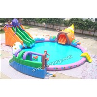 CE Inflatable Water Slide With Pool(IS-040)