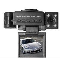 HD720P Dual-lens Car Camera Black Box, Supports TF Card Up to 32GB
