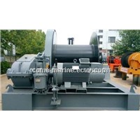 Electric hydraulic marine combined anchor windlass mooring winch