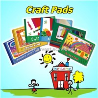 Craft pads with different kinds of craft paper