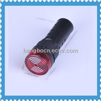 AD16-16SM 16mm buzzer with led flashing 16mm 24v Led indicator with flush buzzer alarm buzzer