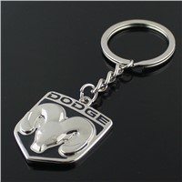 wholesale black color dodge car logo metal keychain