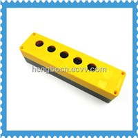 Plastic Control Station Switch 22mm Push Button Protector Box with 5 hole