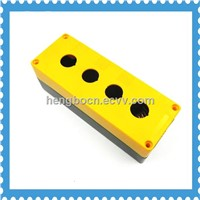 push button plastic remote control switch box wit 4 hole yellow and black