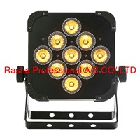 Rasha High Brightness 9pcs*18W RGBAW+UV Battery Powered&Wireless LED Par Light,Par Can For DJ Party