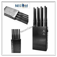 Portable  Remote Control 433/315/868Mhz+GSM/3G /4G Cell phone, Jammer/Blocker