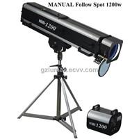 Manual Follow Spot 1200w 4 Color Changing Wheel