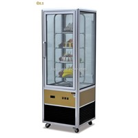 Vertical Rotation 4-Side Cake Display Refrigerator BY-CP400