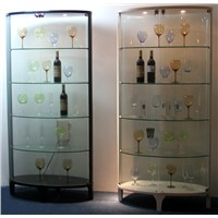 Modern wine cabinet tempered glass wine rack wine storage with led design