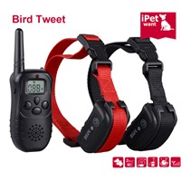 RECHARGEABLE DOG TRAINING COLLAR WITH BIRD TWEET FOR 2 DOGS