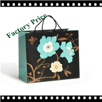 Blue Flower Low Price Unique Paper Gift Bag With Five Color Printing