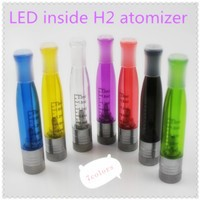 2014 High quality replaceable bottom coil LED H2 atomizer