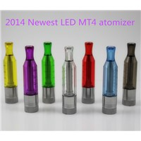 2014 Hottest ! Best Design and cheapest Bottom Changeable led coil head MT4 Atomizer