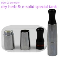 2014 newest e-solid and dry herb vaporizer EGO C3 with full brass tube