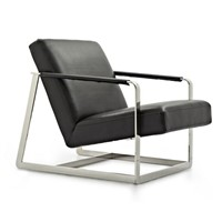 Home furniture leisure chair chaise lounge chairs stainless steel chair sofa chair leather chair