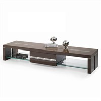 Modern wooden tv stands high gloss floor cabinet living room furniture tv cabinet with glass shelf