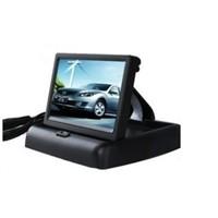 HD digital screen car monitor 4.3-inch desktop stand reversing monitor reversing the priority