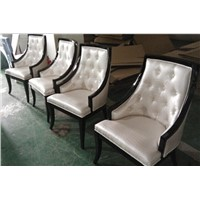 Hotel furniture hotel chairs solid wood dining chairs real leather dining chairs leisure chair