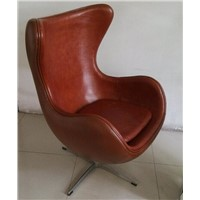Hot sale leisure chair real leather chair high quality office chair turnable chair home furniture