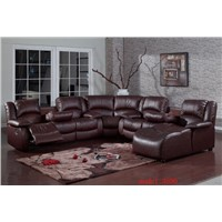 Hot selling leather recliner sofa dark brown leather furniture