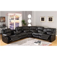 home furniture sectional reclining sofa with snythetic leather