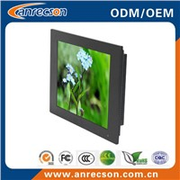 12 inch industrial embedded mount LCD monitor with touchscreen