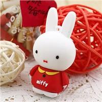 Cute rabbit PVC USB flash disk