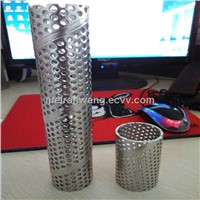 round hole stainless steel welded perforated tube