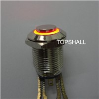 12mm ON/(OFF) metal illuminated led press button siwtch