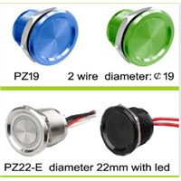 IP68 piezo switch for electrical controls