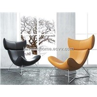 Imola Chair in leather or fabric, relex Imola Armchair by BB italy