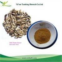 Liver protection Milk thistle extract Silymarin 80% silybin 30%