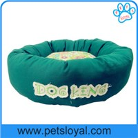 Dog In Bed Canvas Fabric With Flower Printed Pet beds wholesale