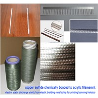 Organic fiber of copper sulfide chemically bonded to acrylic filamemnt,Conductive arylic filament