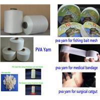 PVA yarn polyvinyl alcohol soluble in water for fishing mesh Medical catgut bandage