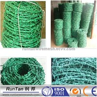 High Quality PVC double twist barbed wire on sale