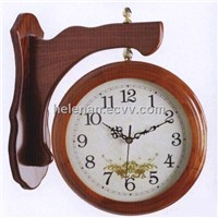 quartz wall clock with  double side