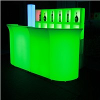Glowing led bar reception desk led bar counter
