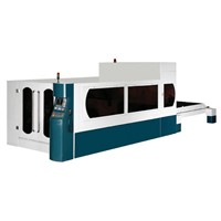 CNC gantry type laser cutting machine