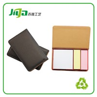 PU leather case cover memo pad with thread