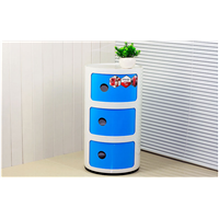 Round Storage Bins with Several Tiers Bedroom Organizer Storage Cabinet