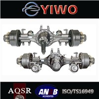 Truck rear tandem axle single reduction driving axle assembly