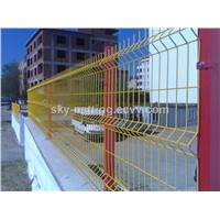 PVC coated curved wire mesh fencing